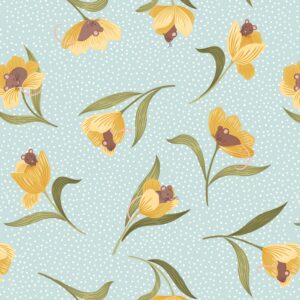 Tulip Fields By Lewis & Irene - Pale Blue