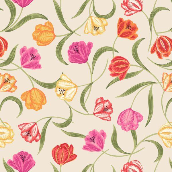 Tulip Fields By Lewis & Irene - Cream