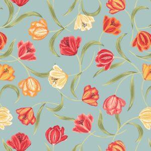 Tulip Fields By Lewis & Irene - Duck Egg