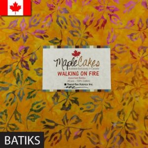 Walking On Fire Assortment Batiks Maple Cakes - 40 Pcs./ Packs Of 4