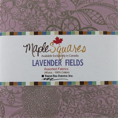 Lavender Fields Maple Squares - 40 Pcs./Packs Of 12