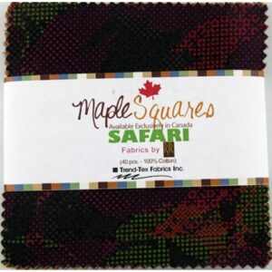 Safari Maple Squares - 40 Pcs./Packs Of 12