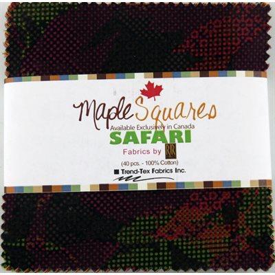 Safari Maple Squares - 40 Pcs./Packs Of 12