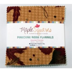 Pinecone Ridge Flannels Flannels Maple Squares - 40 Pcs./Packs Of 12
