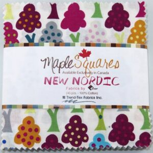 New Nordic Maple Squares - 40 Pcs./Packs Of 12