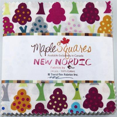 New Nordic Maple Squares - 40 Pcs./Packs Of 12