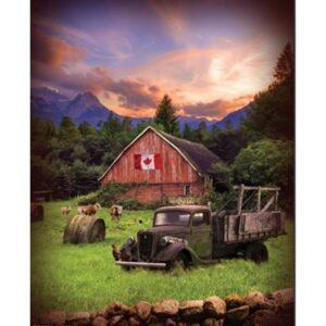 Sun Up To Sun Down Digital Print By Hoffman - Dawn - Canadian Flag