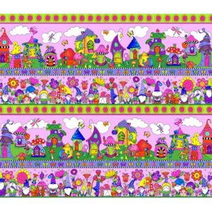 Garden Gnomes By Sue Marsh For Rjr Fabrics - Lilac