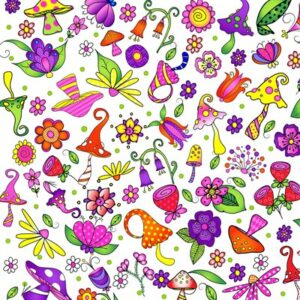Garden Gnomes By Sue Marsh For Rjr Fabrics - White