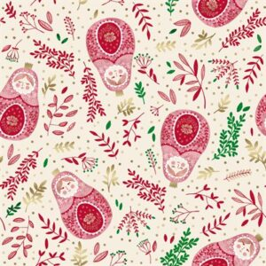 Winter Dreams By Jade Monsinski For Rjr Fabrics - Cinnamon Metallic