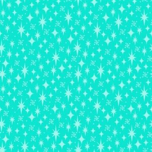 Stars By Sue Marsh For Rjr Fabrics - Aqua