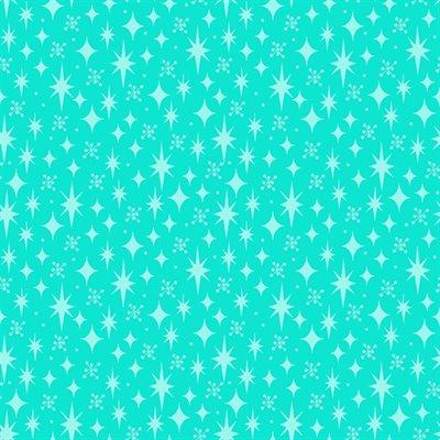 Stars By Sue Marsh For Rjr Fabrics - Aqua