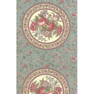 Regency Romance By Christopher Wilson Tate For Moda - Aqua