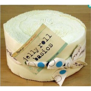Bella Solids Jelly Roll - Snow