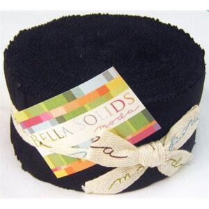Bella Solids Jelly Roll - Black