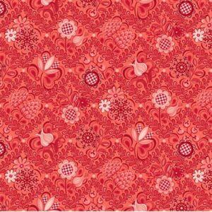 First Frost By Amanda Murphy For Benartex - Red