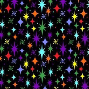 Stars By Sue Marsh For Rjr Fabrics - Black