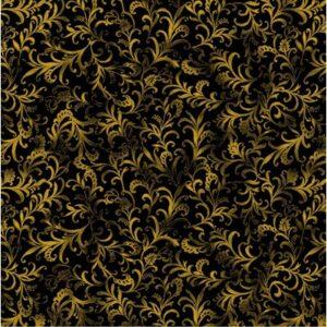Rejoice By Kanvas Studio For Benartex - Black/Gold