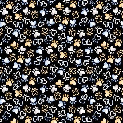 Think Pawsitive By Andi Metz For Benartex - Black