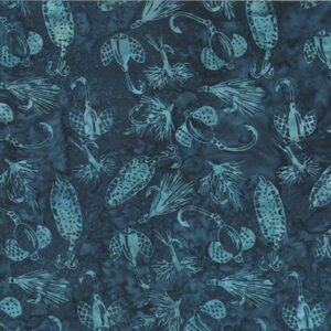 River Run  Bali Batiks By Dana Michelle For Hoffman - Teal