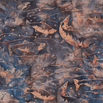 River Run  Bali Batiks By Dana Michelle For Hoffman - Gravel
