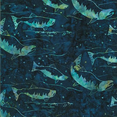 River Run  Bali Batiks By Dana Michelle For Hoffman - Moonstruck