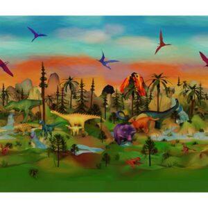 Dino Mite Digital Print By Hoffman - Volcano