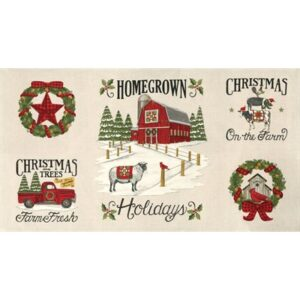 Homegrown Holidays By Deb Strain For Moda - Panel - Winter White