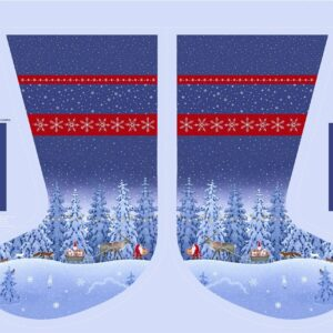 Tomten's Christmas Digital Print By Lewis & Irene -  Stocking Panel 36