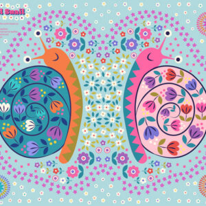 Flower Child By Lewis & Irene - Cyril The Snail Panel - Multi