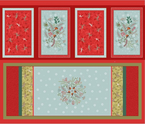 New Forest Winter By  For Lewis & Irene - Placement & Table Runner Panel - Multi