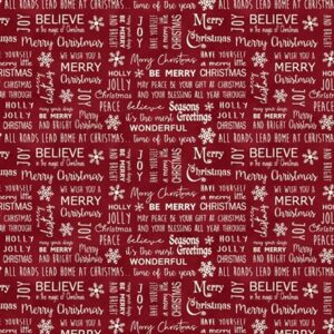A Jinglebell Christmas By Painted Sky Studio For Benartex - Berry