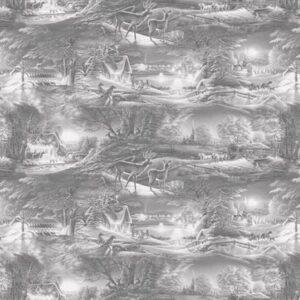 Evening Frost By Terry Redlin For Benartex - Light Gray