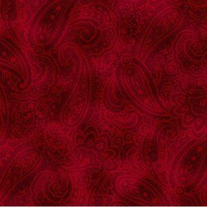 Radiant Paisley By Kanvas Studio For Benartex - Brick Red