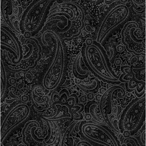 Radiant Paisley By Kanvas Studio For Benartex - Black/Gray