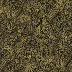 Radiant Paisley By Kanvas Studio For Benartex - Black/Gold