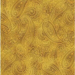 Radiant Paisley By Kanvas Studio For Benartex - Butternut/Gold