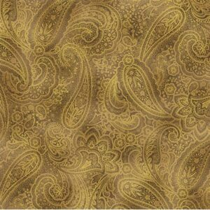 Radiant Paisley By Kanvas Studio For Benartex - Sepia/Gold