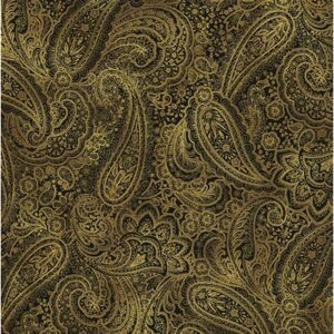Radiant Paisley By Kanvas Studio For Benartex - Chestnut /Gold