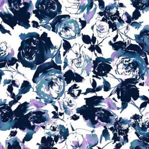Ink Rose By Rjr Studio For Rjr Fabrics - Midnight