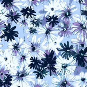 Ink Rose By Rjr Studio For Rjr Fabrics - Periwinkle