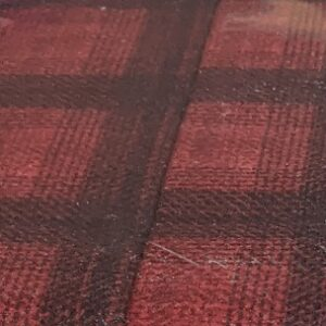 Wool & Needle V Flannel By Primitive Gatherings For Moda - Cardinal