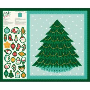 Deck The Halls By Stacy Iest Hsu For Moda - Cut & Sew Christmas Tree Panel