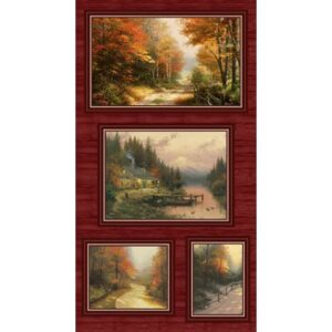 Autumn Colors By Thomas Kinkade For Benartex - Panel - Multi
