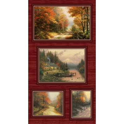Autumn Colors By Thomas Kinkade For Benartex - Panel - Multi