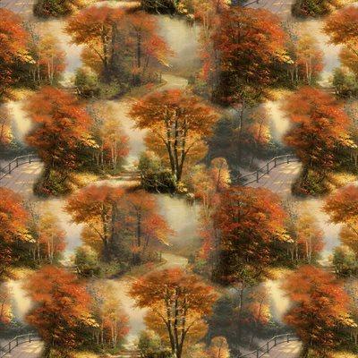 Autumn Colors By Thomas Kinkade For Benartex - Multi