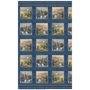 Coastal Haven By Thomas Kinkade For Benartex - Panel - Blue/Multi