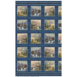 Coastal Haven By Thomas Kinkade For Benartex - Panel - Blue/Multi