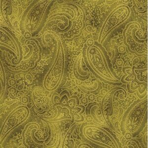 Radiant Paisley By Kanvas Studio For Benartex - Green/Gold