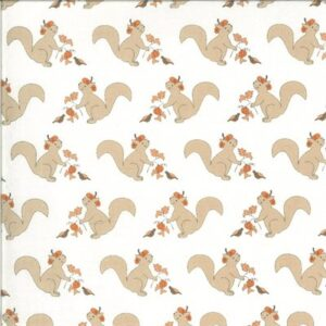 Squirrelly Girl By Bunny Hill Designs For Moda - Ivory